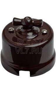 Выключатель 2-кл коричневый Bironi B1-202-22