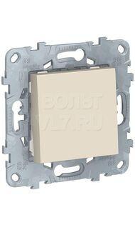 Выключатель  1-кл беж. кнопочный UNICA NEW Shneider NU520644