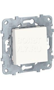 Выключатель  1-кл бел. кнопочный  UNICA NEW NU520618