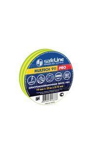 Изолента 19/25 желто-зеленый Safeline 9375