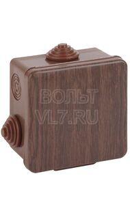 Коробка распаячная 65х65х50мм дуб IP54 Эра Б0043228