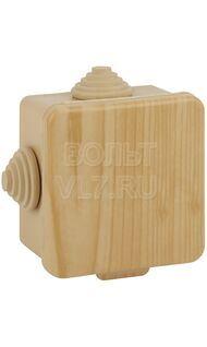 Коробка распаячная 65х65х50мм сосна IP54 Эра Б0043227
