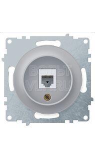 Розетка RJ11 тел. серый Florence OneKeyElectro 1E20601302